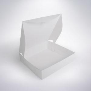 Krabice na donuty 200x200x80 mm eko bíla