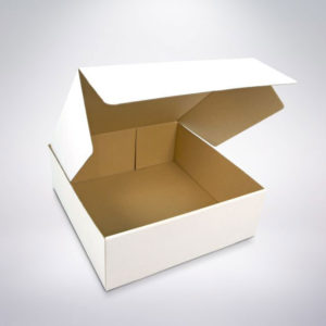 Cukrářská krabice 250x250x80 bíla