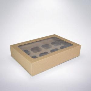 Krabička na cupacake 8ks 300x200x60 hnědá