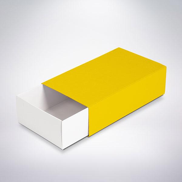 Krabička na makronky žlutá 160x90x45